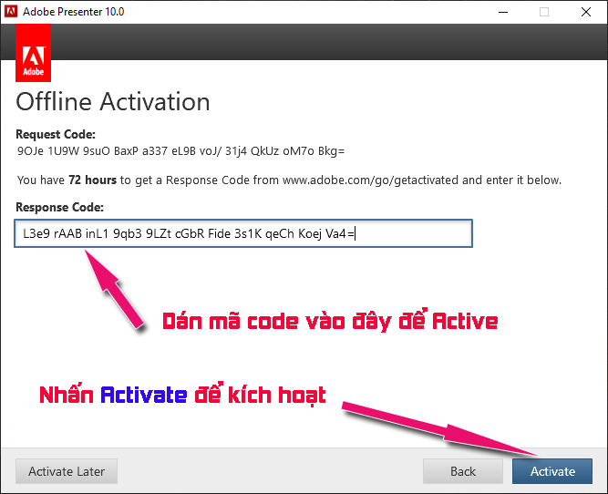 Activate adobe presenter 10