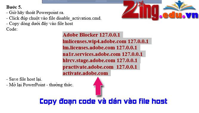 dán code và file host